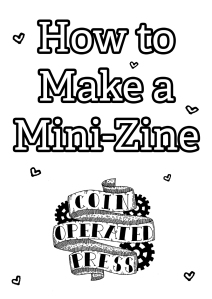 How to Make a Mini-Zine (Cover)